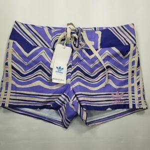 Adidas W ZigZag Board Shorts Sz S New